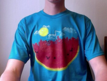 andgamlau wearing Watermelon City by sustici