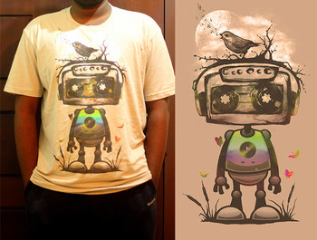 kodereaper wearing Play My Musical Robot by rpcabardo
