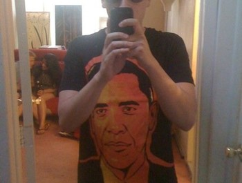 Smuttny wearing Obama by Cloxboy
