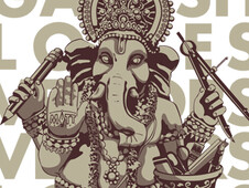 Ganesh Loves Vectors! T-Shirt Design by