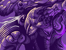 Gods of purple T-Shirt Design by