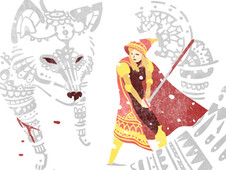 Riding Hood and the Wolf T-Shirt Design by