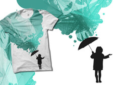 Umbrella T-Shirt Design by