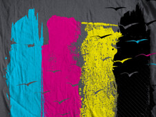 Escape in CMYK T-Shirt Design by