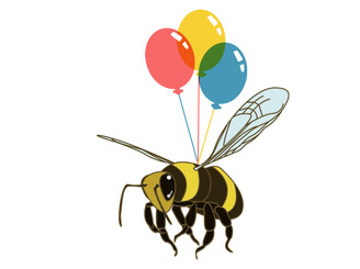 Balloon Bee by MiroirStudios