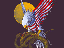Eagle Of The States T-Shirt Design by