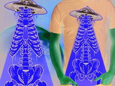 ufo attack T-Shirt Design by
