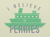 pktshirts wearing I Believe In Ferries by tomgreever