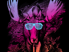 Hipster Moose T-Shirt Design by