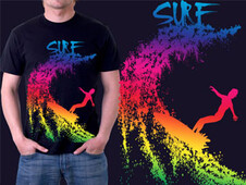 Surfer T-Shirt Design by