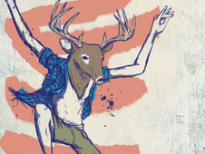 Deer Dance T-Shirt Design by