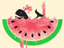 Watermelon Falls T-Shirt Design by