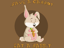 save a carott, eat a rabbit T-Shirt Design by