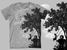 happiness under the tree T-Shirt Design by