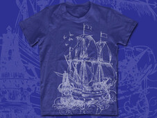 lost ship T-Shirt Design by