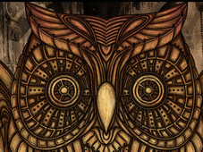 Steampunk Owl Clock T-Shirt Design by