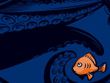 The little orange fish T-Shirt Design by