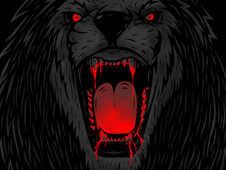 bloody lion T-Shirt Design by