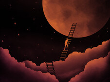 stairway to the moon T-Shirt Design by