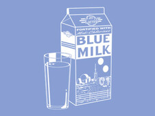 Blue Milk T-Shirt Design by