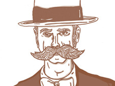 Mr Mustache T-Shirt Design by