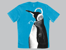 PENGUIN HEADPHONES T-Shirt Design by