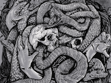 the snake artwork T-Shirt Design by