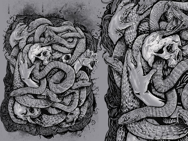 the snake artwork
