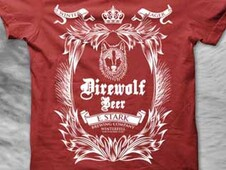 DIREWOLF BEER BREWED BY STARK IN WINTERFELL T-Shirt Design by