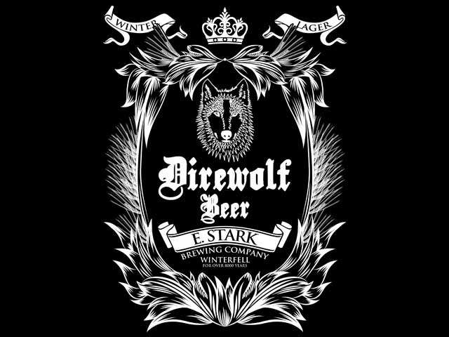 DIREWOLF BEER BREWED BY STARK IN WINTERFELL