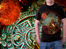 PLANET X in 3D T-Shirt Design by