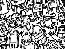 Robot Overload T-Shirt Design by