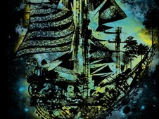 ghost ship T-Shirt Design by