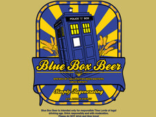 Blue box beer T-Shirt Design by