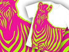 NEON ZEBRA T-Shirt Design by