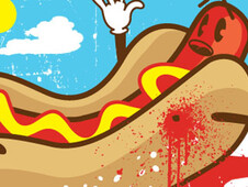 Hot Dog Murder T-Shirt Design by