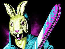 Rabbit With A Chainsaw T-Shirt Design by