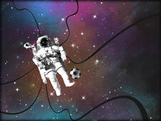 Space Football T-Shirt Design by