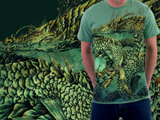 River Dragon T-Shirt Design by