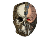 0pTiiC wearing Skull Bane by dragonballsam