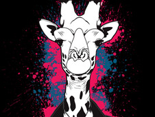 Casual Giraffe T-Shirt Design by