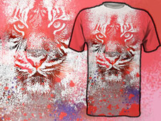 white tiger T-Shirt Design by