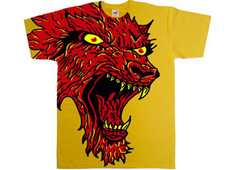red wolf T-Shirt Design by