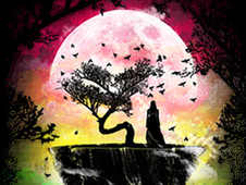 UNDER THE COLORFUL MOONLIGHT T-Shirt Design by