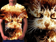 Very Angry Cat T-Shirt Design by