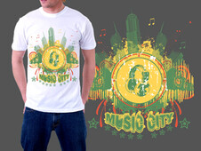 Music City T-Shirt Design by