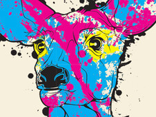 CMYK...D - Cyan Magenta Yellow Black... Deer T-Shirt Design by