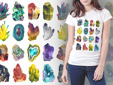 Crystal Illustration T-Shirt Design by