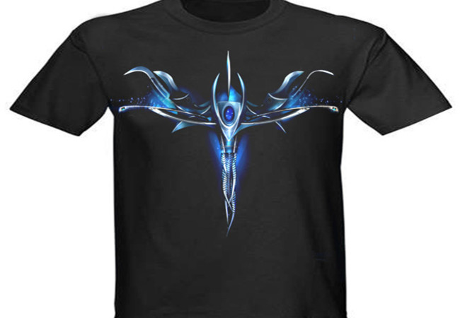 dragon heart blue design