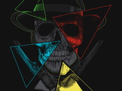 Skull, Hat, 4 triangles and guns by RicoMambo